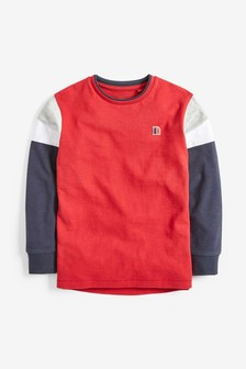Long Sleeve Colourblock T-Shirt (3-16yrs)