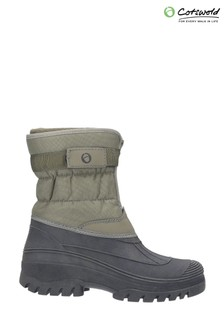 Cotswold Green Chase Touch Fastening And Zip Up Winter Boots