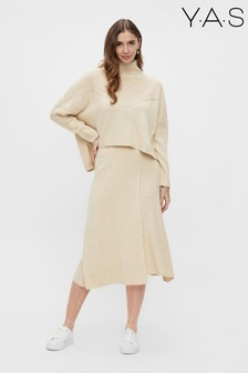 Y.A.S Beige Assi Co Ord Jumper