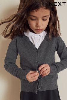 Kardigan z dekoltem w serek (3-16 lat)