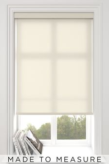 Asher Cream Made To Measure Light Filtering Roller Blind