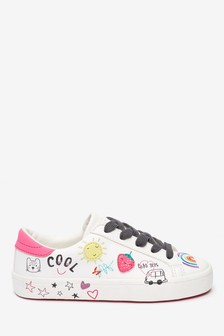 Low Top Fun Badges Trainers (Older)