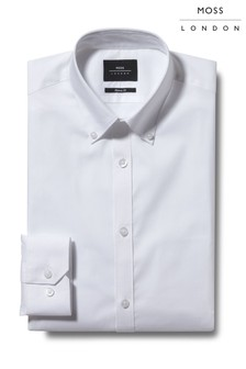 Moss London Extra Slim Fit Button Down Stretch Shirt