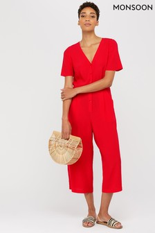 Monsoon Red Josie Jumpsuit