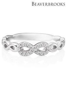 Beaverbrooks Cubic Zirconia Infinity Ring