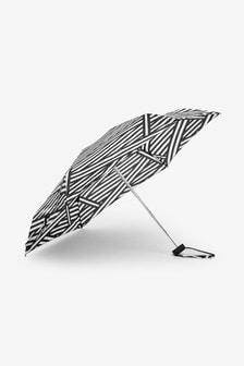 Spliced Stripe Compact Umbrella
