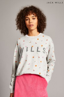 Jack Wills Multi Finch Boyfriend Crew Top