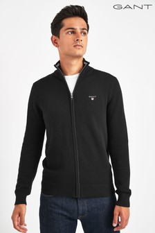 GANT Cotton Half Zip Cardigan