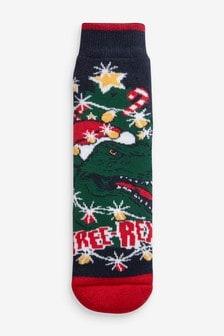Heat Holders 3.1 Tog Thermal Tree-Rex Slipper Socks (Older)