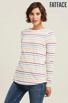 FatFace Natural Organic Cotton Breton Multi T-Shirt