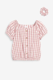 Blouse And Scrunchie Set (3-16yrs)