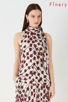 Finery London Red Thurlow Printed Top