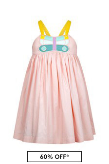 Stella McCartney Kids Girls Pink Cotton Dress