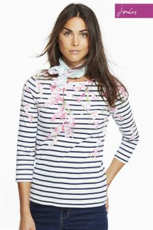 Joules Cream Harbour Print Top