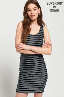 Superdry Sienna Chevron Textured Mini Dress