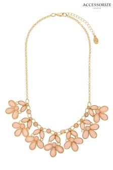 Accessorize Pink New Petunia Collar Necklace