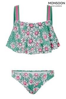 Monsoon Green Daisy Print Bikini Set