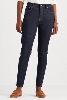 Lauren Ralph Lauren High Waist Skinny Fit Stretch Jeans
