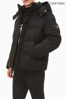 Calvin Klein Black Faux Down Padded Jacket