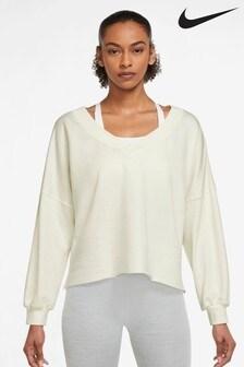 Nike Yoga Luxe Fleece V-Neck Top