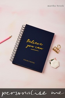 Personalised Believe You Can Notebook by Martha Brook