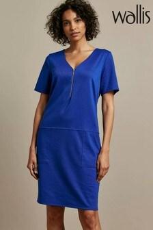 Wallis Blue Ponte Dress