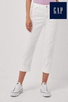 Gap White Slim Boyfriend Fit Jeans