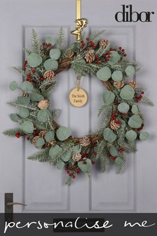 Personalised Mountain Spruce Wreath by Dibor