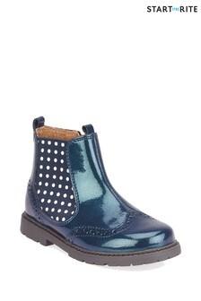 Start-Rite Navy Glitter Chelsea Boots