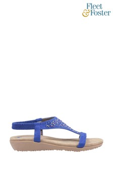 Fleet & Foster Blue Nicosia Slingback Sandals