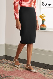 Boden Black Hampshire Ponte Skirt