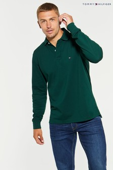 Tommy Hilfiger Green Long Sleeve Polo