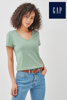 Gap Short Sleeve V-Neck T-Shirt