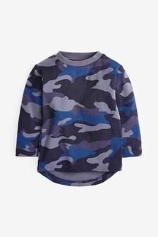 Long Sleeve Textured Camo T-Shirt (3mths-7yrs)