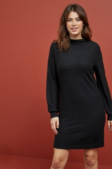 Cosy High Neck Dress