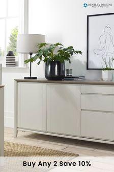Bergen Grey Washed Soft Grey Wide Sideboard by Bentley Designs