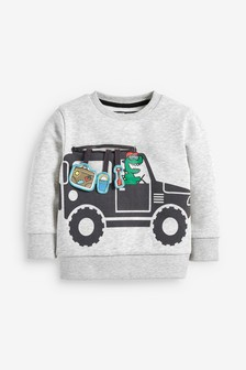 Interactive Car Crew Top (3mths-7yrs)