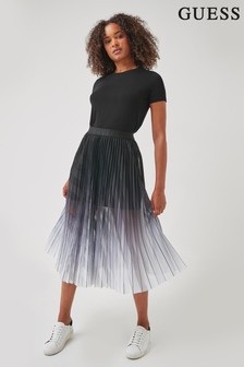 Guess Grey Doyle Pleated Skirt