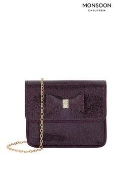 Monsoon Children Purple Josephine Patent Glitter Bag