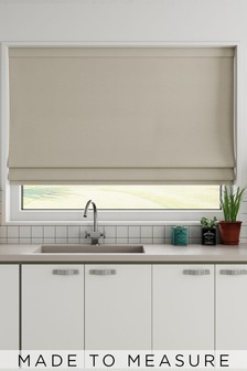 Cotton Natural Cream Made To Measure Roman Blind