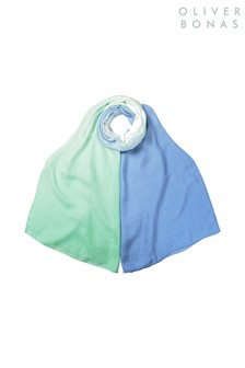 Oliver Bonas Blue Ombre Tie Lightweight Scarf