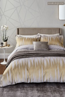 Harlequin Motion Gold Ikat Cotton Duvet Cover