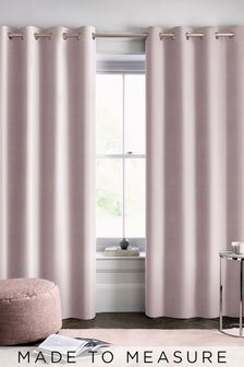 Otto Shell Pink Velvet Made To Measure Curtains