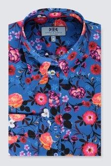 חולצת קולר צמודה של Hawes & Curtis דגם Vintage בכחול