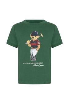 Ralph Lauren Kids Baby Boys Green Cotton T-Shirt