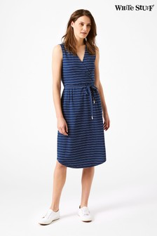 White Stuff Blue Avery Stripe Dress