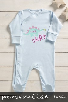 Personalised Saurus Sleepsuit