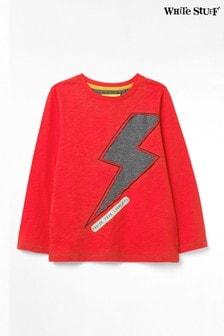White Stuff Red Kids Fast As Lightning Jersey T-Shirt