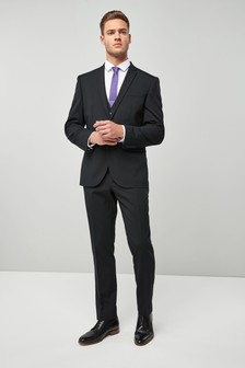 Wool Blend Stretch Suit: Jacket