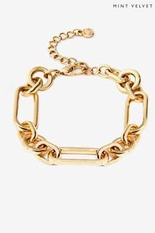 Mint Velvet Gold Tone Chunky Bracelet